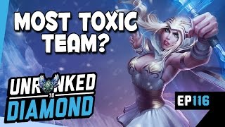 CARRYING MOST TOXIC TEAM? - ASHE Unranked to Diamond Ep 116 (League of Legends)