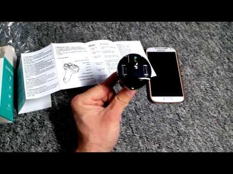 Freisprechen und Musik mit jedem KFZ Autoradio hören Amir Bluetooth KFZ FM Transmitter USB SD Slot
