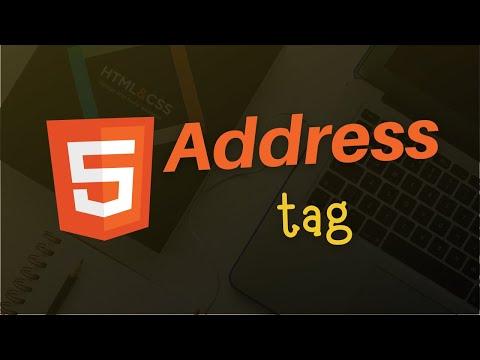 Address Tag in HTML 5 | HTML 5 Tutorial in Hindi thumbnail