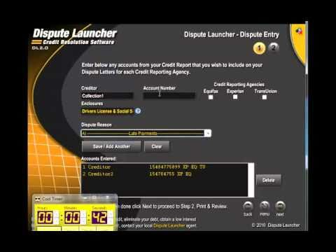 http://www.disputelauncher.com Credit Repair Software  Dispute Launcher Software.com.mp4