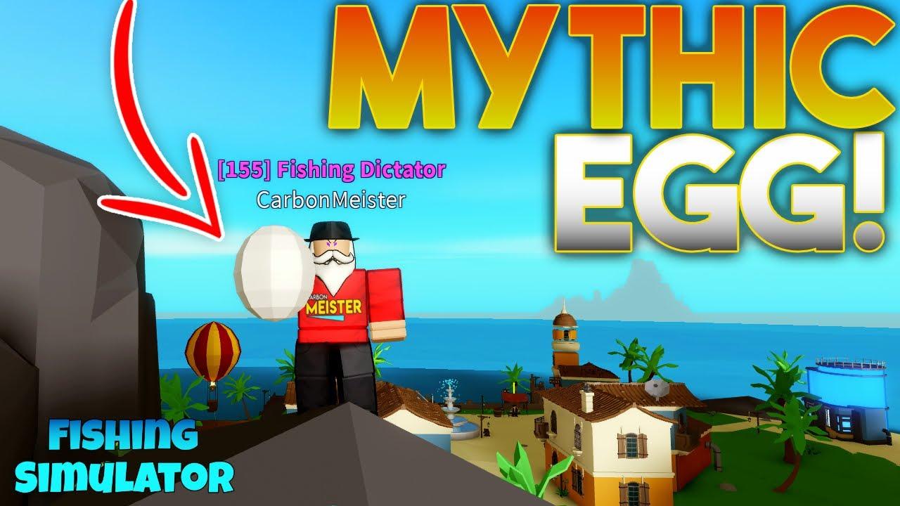 New Mythic Baby Shark Egg Fishing Simulator Roblox Youtube