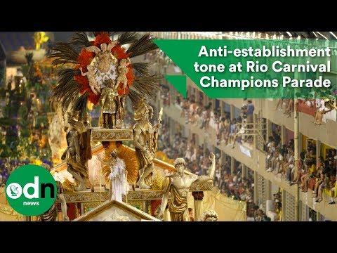 Anti-establishment tone at Rio Carnival Champions Parade