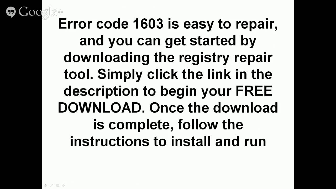 How To Locate The Cause Of Error Code 1603 In A