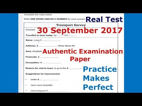 IELTS Listening Practice Test 2017 With Answers | 30 September 2017