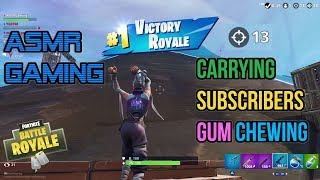 ASMR Gaming | Fortnite Carrying Subscribers Relaxing Gum Chewing 🎮Controller Sounds + Whispering😴💤