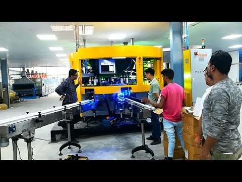 China Auto 4 Color CNC Screen Printer In Costomer Factory CNC04