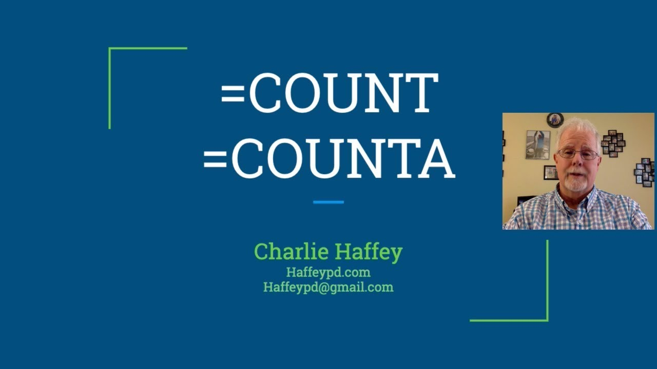 quick look count counta functions  youtube