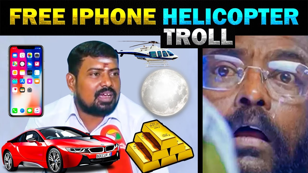 FREE IPHONE HELICOPTER CAR MOON TOUR  GOLD FOR VOTE TROLL - TODAY TRENDING
