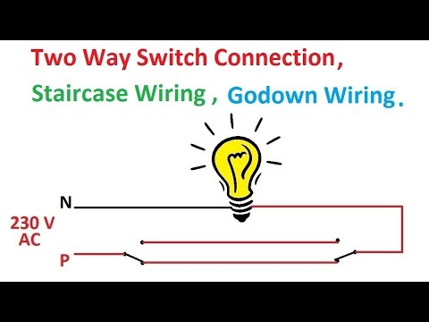 hqdefault two way switch connection, two way switch wiring diagram circuit diagram for staircase wiring at bakdesigns.co