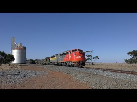 Victorian Railways Diesel Electric S Class Locomotive Mainline Action