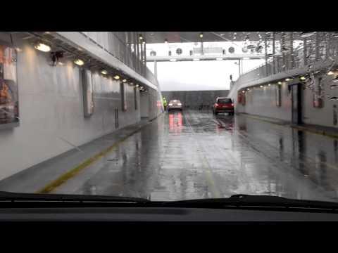 Car ferry crossing in norway