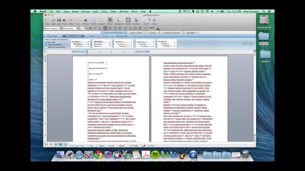 write a book in word or publisher