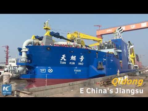 Asia's largest dredging vessel begins water tests