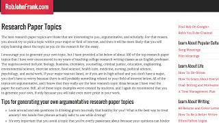 research papers topics on it 100 top research paper topics and a tutorial on how to write good research topics of your own and choosing a research paper topic