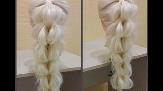 Коса 3D.😃 Ажурная коса. Нереально Красиво))🐱 Как Сделать красивую косу?🎀Коса из резинок🎀