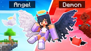 Playing Minecraft As A Half ANGEL Half DEMON!