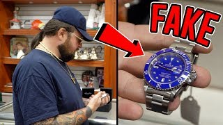 fake rolex busted