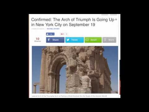 The Palmyra Arch Of Triumph(Temple Of Baal) Was Erected On 9-19-16=666 In NYC(?) Capital Of Babylon.
