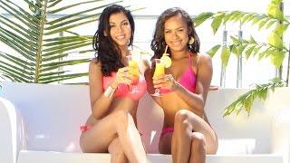 Miss Nouvelle Calédonie, Gyna Moereo et sa 1ère dauphine Julia Roquigny dans les hôtels GLP