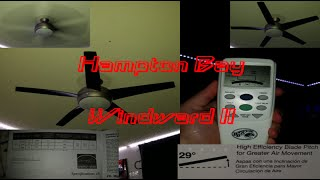 (finally) UNBOX AND INSTALL HAMPTON BAY WINDWARD II | Room Remodel