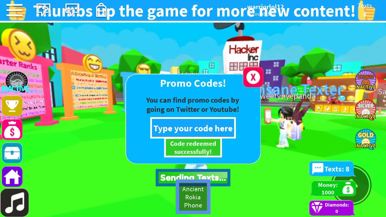 All Roblox Texting Simulator Codes!
