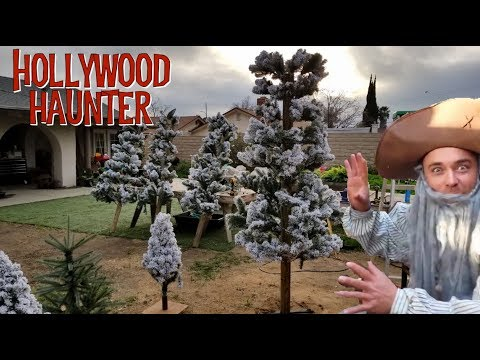 DIY Tree Prop Ideas   Using Artificial Christmas Tree Branches To Make Larger Faux Tree Decorations