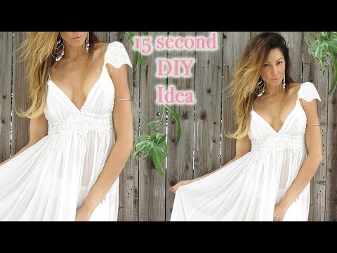 686e8e467ae Easy DIY - How to add Cap Sleeves to Dresses - YouTube