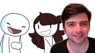 MY EMBARRASSING OLD PLAYS W/THEODD1SOUT REACTION | Jaiden Animations