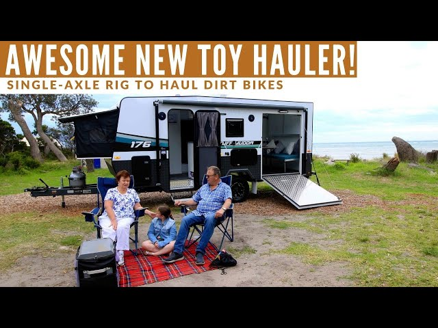 Wow! Check out this family-friendly toy hauler!