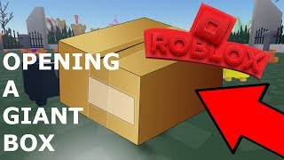 OPENING THE BIGGEST BOX   Roblox Unboxing Simulator