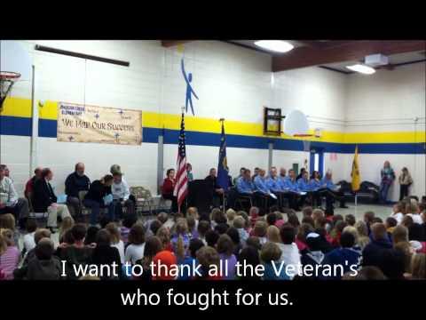 Johnson Creek Elementary School Veteran's Day Celebration