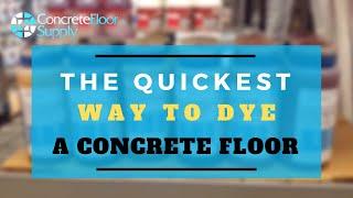 Instant gratification dyes for concrete.