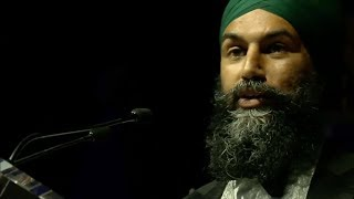 Jagmeet Singh gives dance class at 2018 Parliamentary Press Gallery Dinner