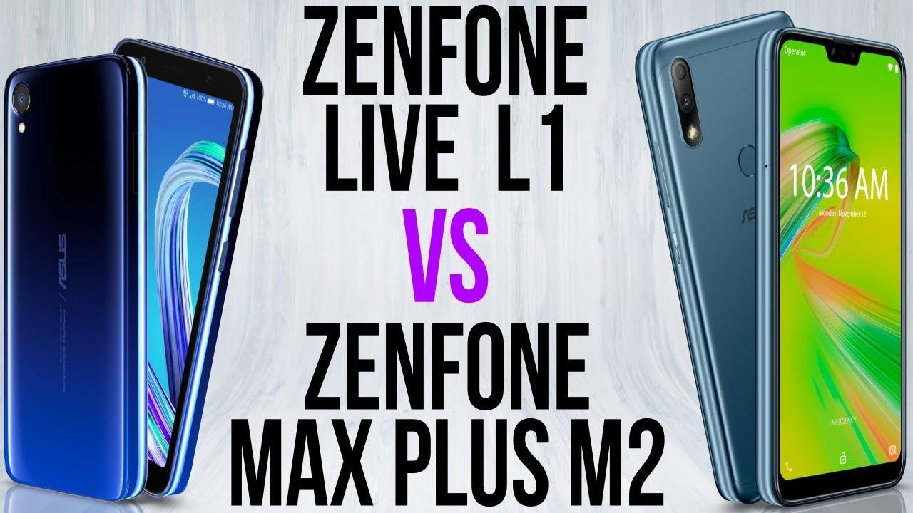 Zenfone Live L1 vs Zenfone Max Plus M2
