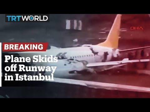 Breaking: Plane skids off runway in Sabiha Gokcen Airport, Istanbul