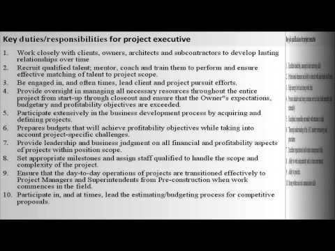 project-executive-job-description