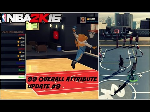 NBA 2K16| NEW 99 OVR PG ATTRIBUTE UPDATE | Best Signature Styles #9 - Prettyboyfredo