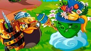 ЭНгри Бердс - Охота за золотыми ПАСХАЛЬНЫМИ ЯЙЦАМИ #143 Игра Angry Birds Epic С Кидом по мультику