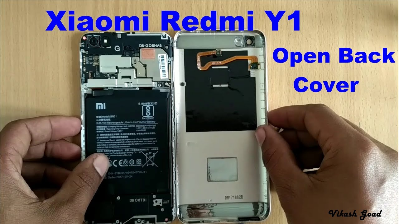 e1d2b5e8126 How to Open Back Cover Redmi Y1