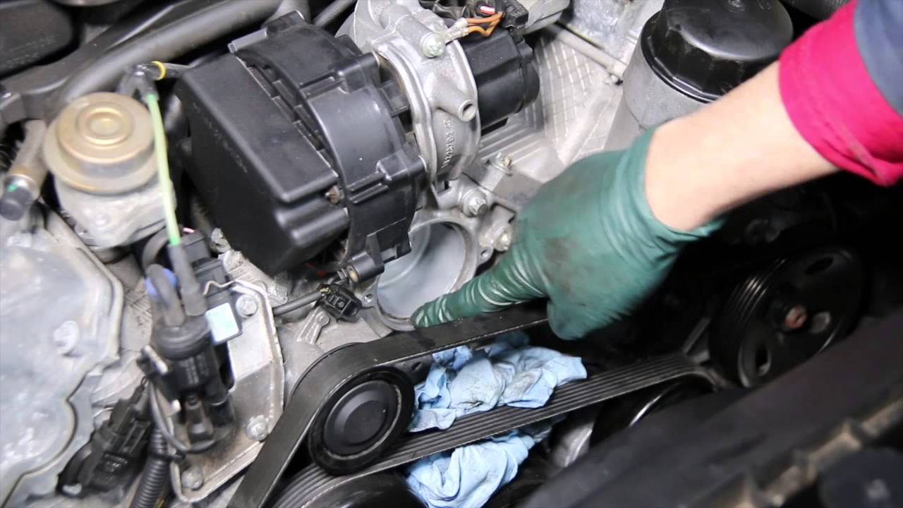 how to replace a thermostat in a mercedes v6 engine 1998 to 2005 rh youtube com V8 Engine Diagram 3.8L V6 Engine Diagram