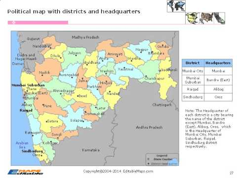 Maharashtra Editable Map YouTube - World map marathi language