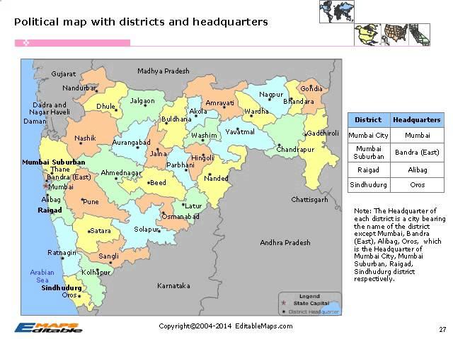 Maharashtra Editable Map