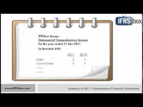 IAS 1 Presentation of Financial Statements - summary