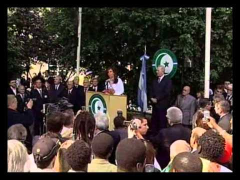Cristina Fernández de Kirchner visitó el Centro Islámico de la República Argentina.