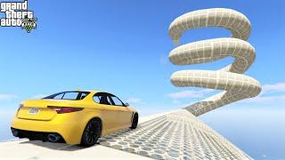 قراند 5 : سباق داخل أنبوب دوامة 🐸 GTA 5 - Sprial Tube Race & Parkour