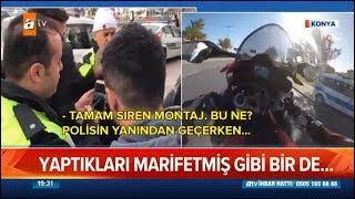 Gambar cover Haberlere Konu Olan Video - Tek Teker Polisin (Radar) Önünden Geçmek