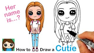 How to Draw a Cute Back to School Girl Easy #2