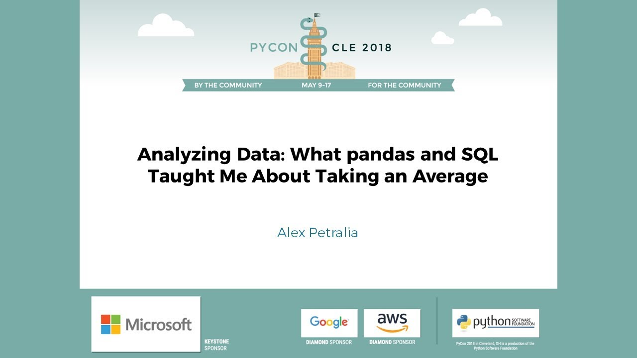 Image from Analyzing Data: What pandas and SQL Taught Me About Taking an Average