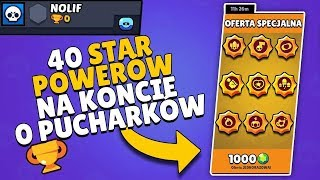 🔥 40 STAR POWERÓW W BRAWL STARS NA KONCIE 0 PUCHARKÓW! ⭐ NOLIF