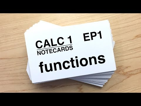 Calculus I Notecards Ep 1: Functions, Transformations, Even and Odd